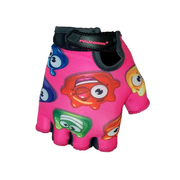Dětské cyklo rukavice POLEDNIK Baby Želáci růžová - 2