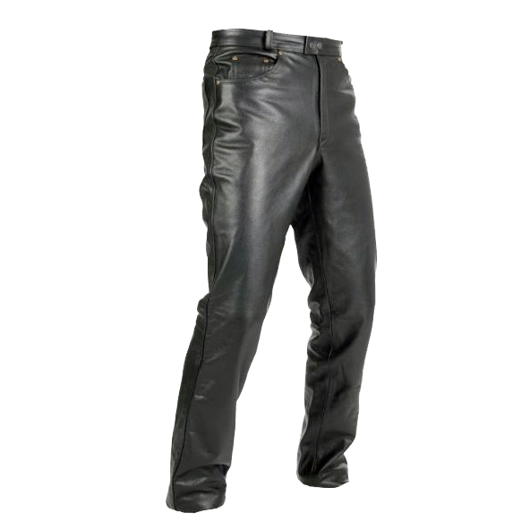 Kožené moto kalhoty Spark Jeans černá - 3XL