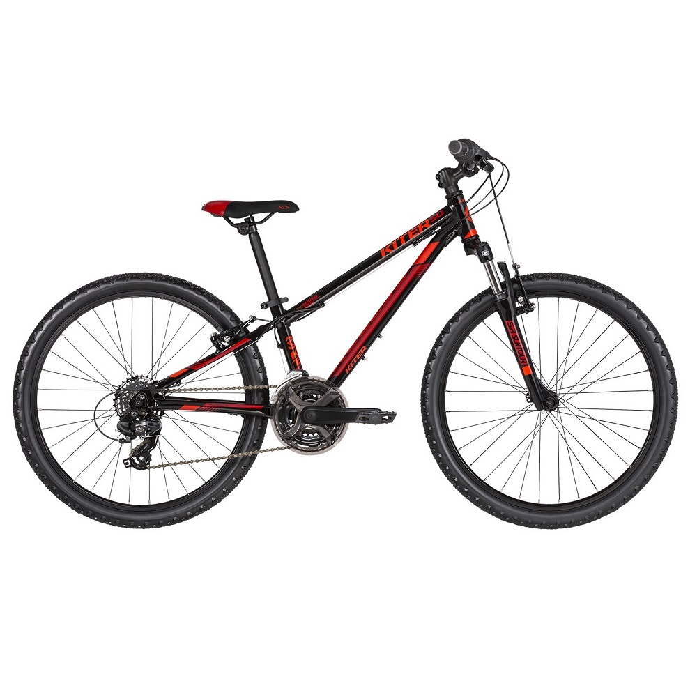 "Juniorské kolo KELLYS KITER 50 24"" - model 2019 Black Red - Záruka 10 let"