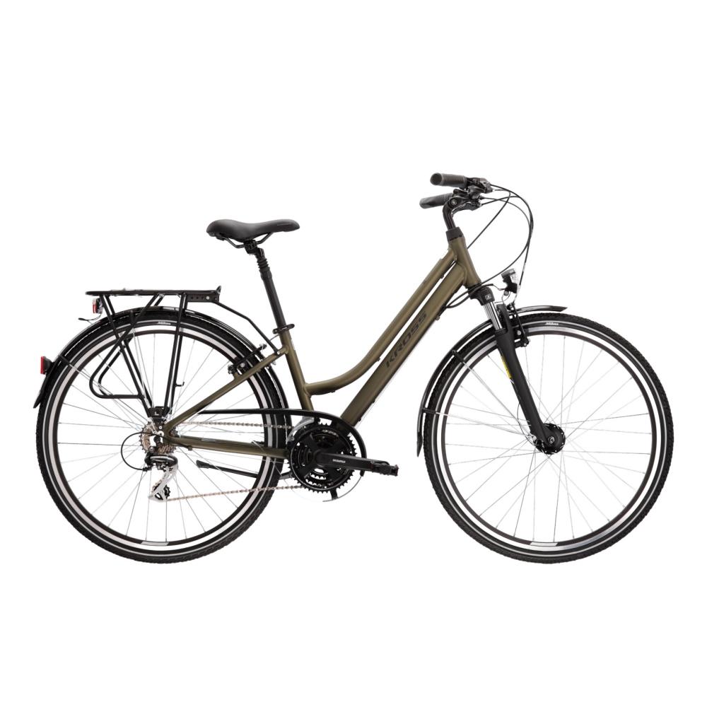 """Dámské trekingové kolo Kross Trans 3.0 28"""" - model 2021 khaki/černá - L (19"""") - Záruka 10 let"""