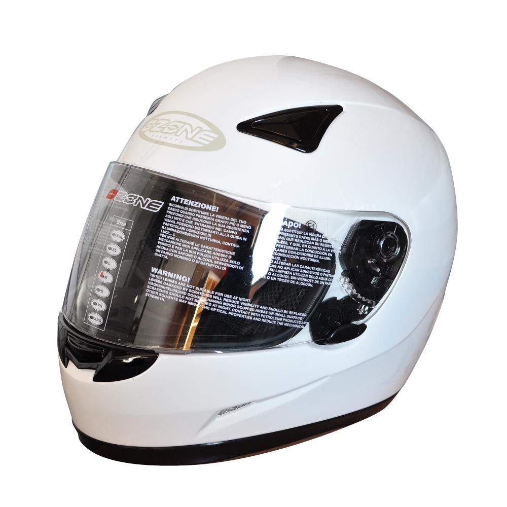 Moto přilba Ozone A-951 bílá - XS (53-54)