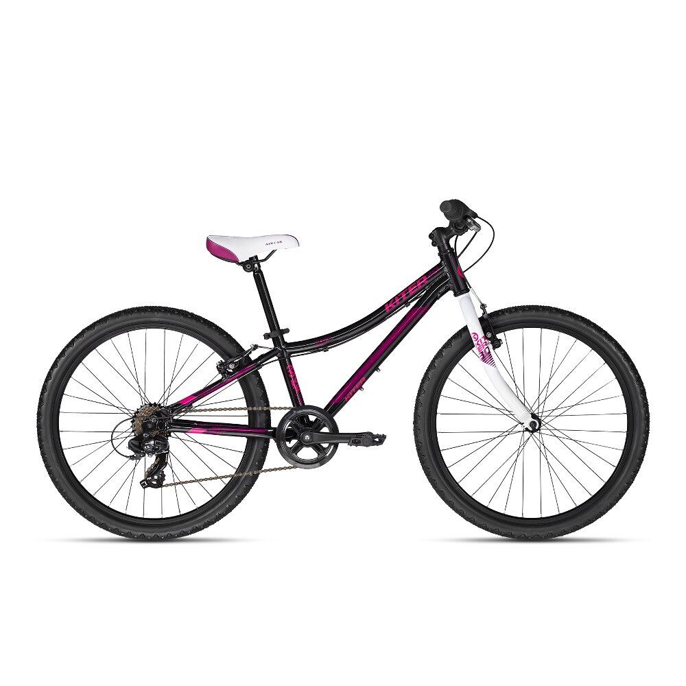 "Juniorské kolo KELLYS KITER 30 24"" - model 2018 Pink - Záruka 10 let"