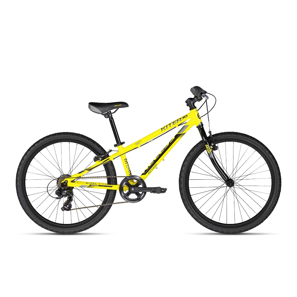 "Juniorské kolo KELLYS KITER 30 24"" - model 2018 Yellow Neon - Záruka 10 let"