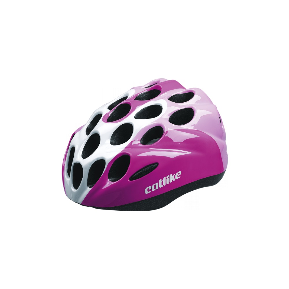 Dětská cyklo přilba CATLIKE Kitten růžovo-bílá - XS