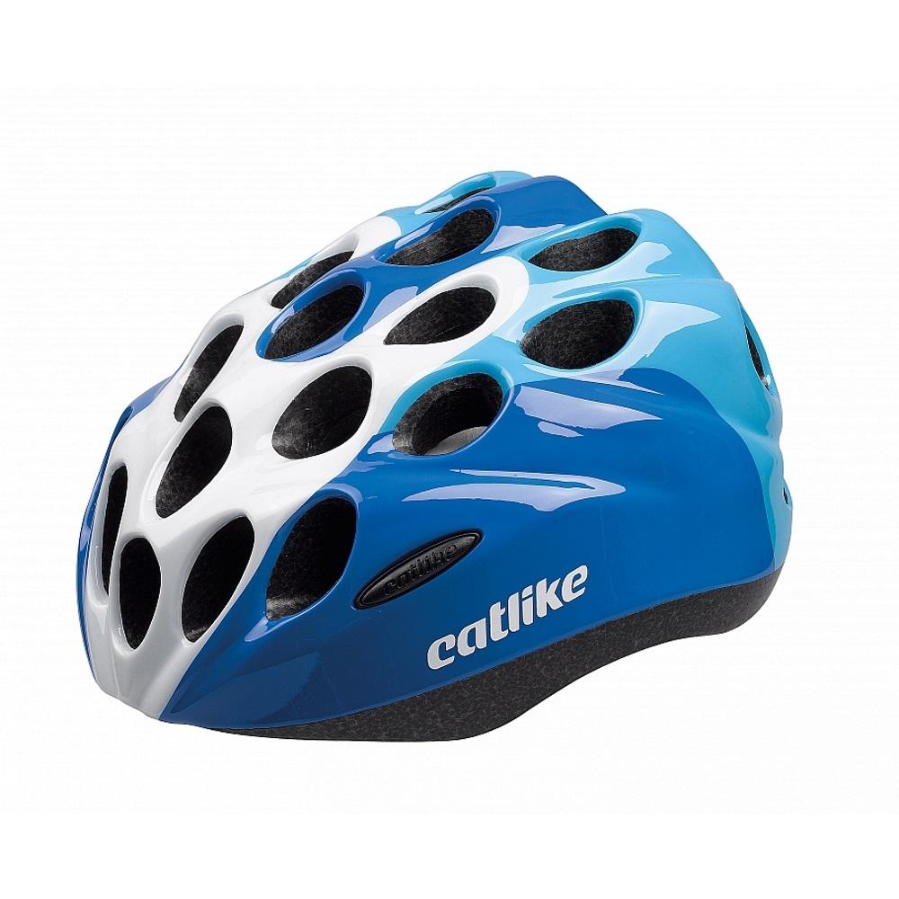 Dětská cyklo přilba CATLIKE Kitten modro-bílá - SM