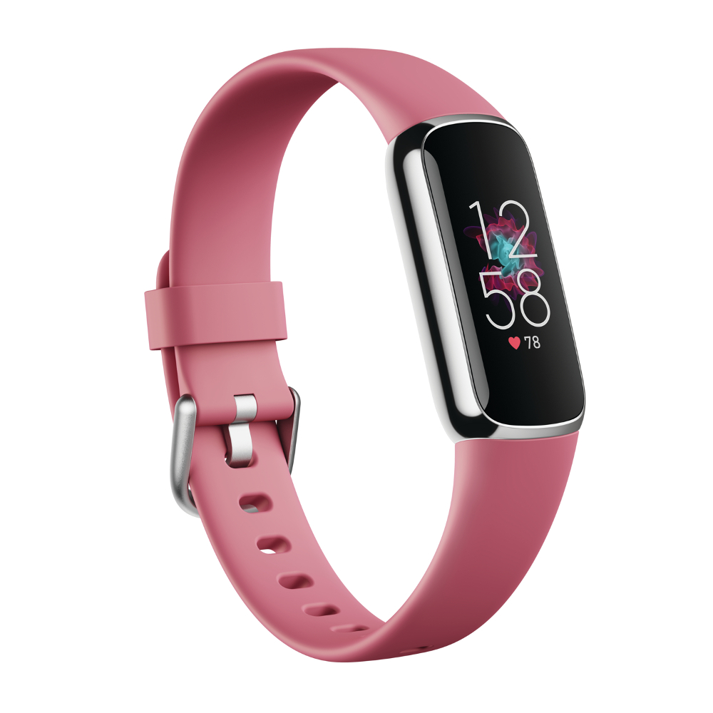 Fitness náramek Fitbit Luxe Platinum/Orchid