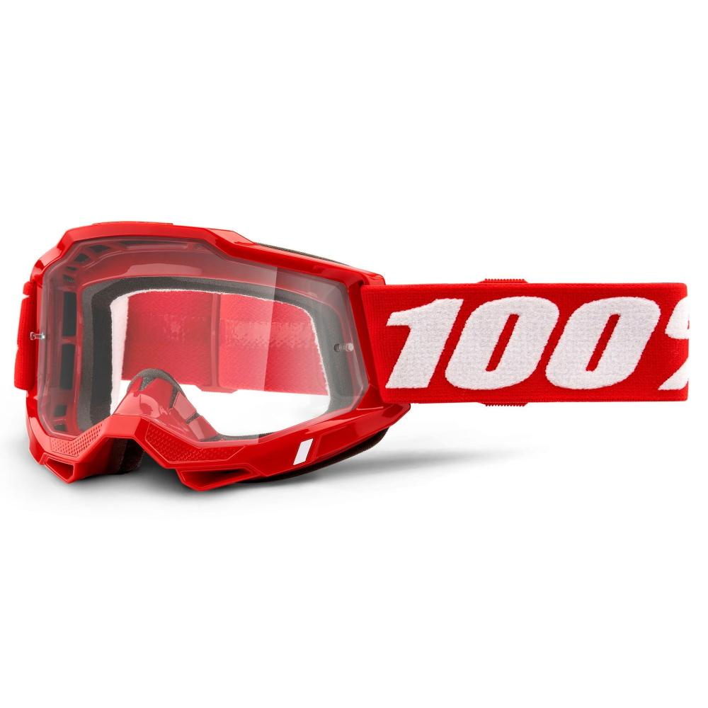 Motokrosové brýle 100% Accuri 2  červená, čiré plexi