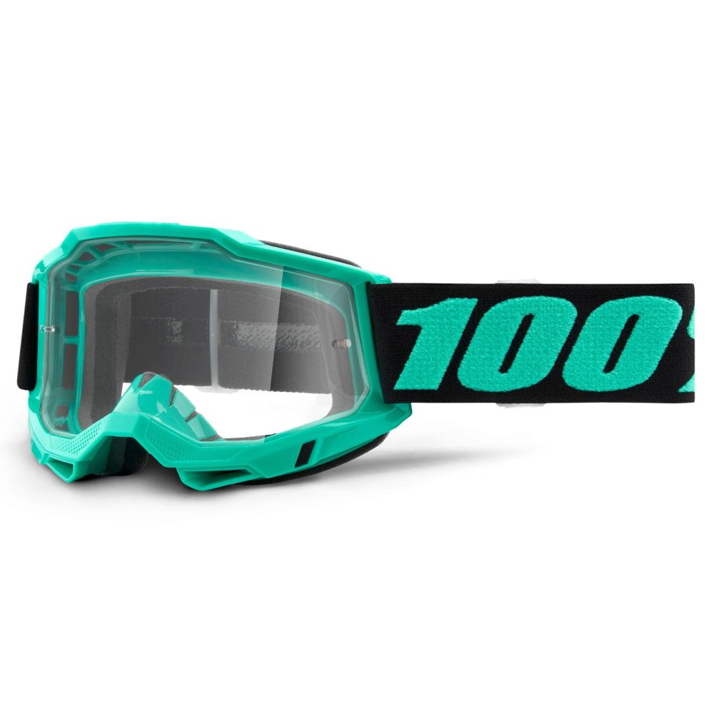 Motokrosové brýle 100% Accuri 2 Tokyo tyrkysová, čiré plexi