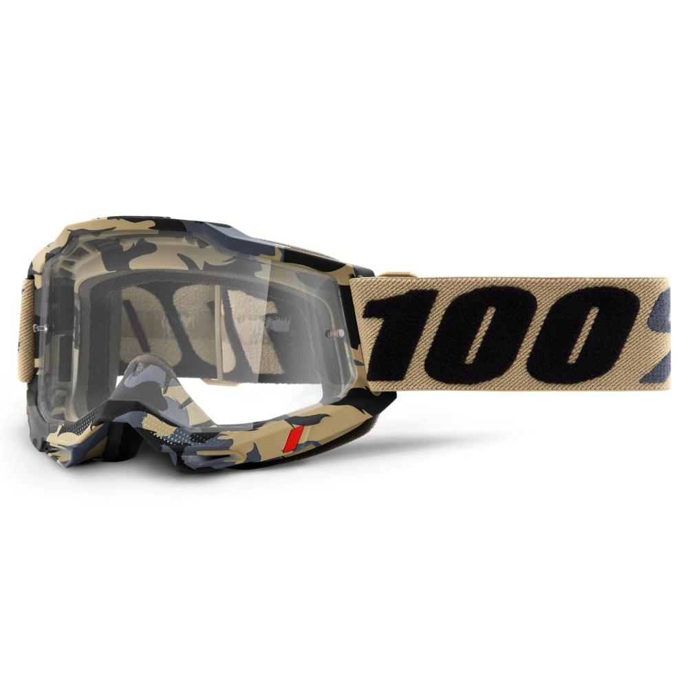Motokrosové brýle 100% Accuri 2 Tarmac béžová kamufláž, čiré plexi