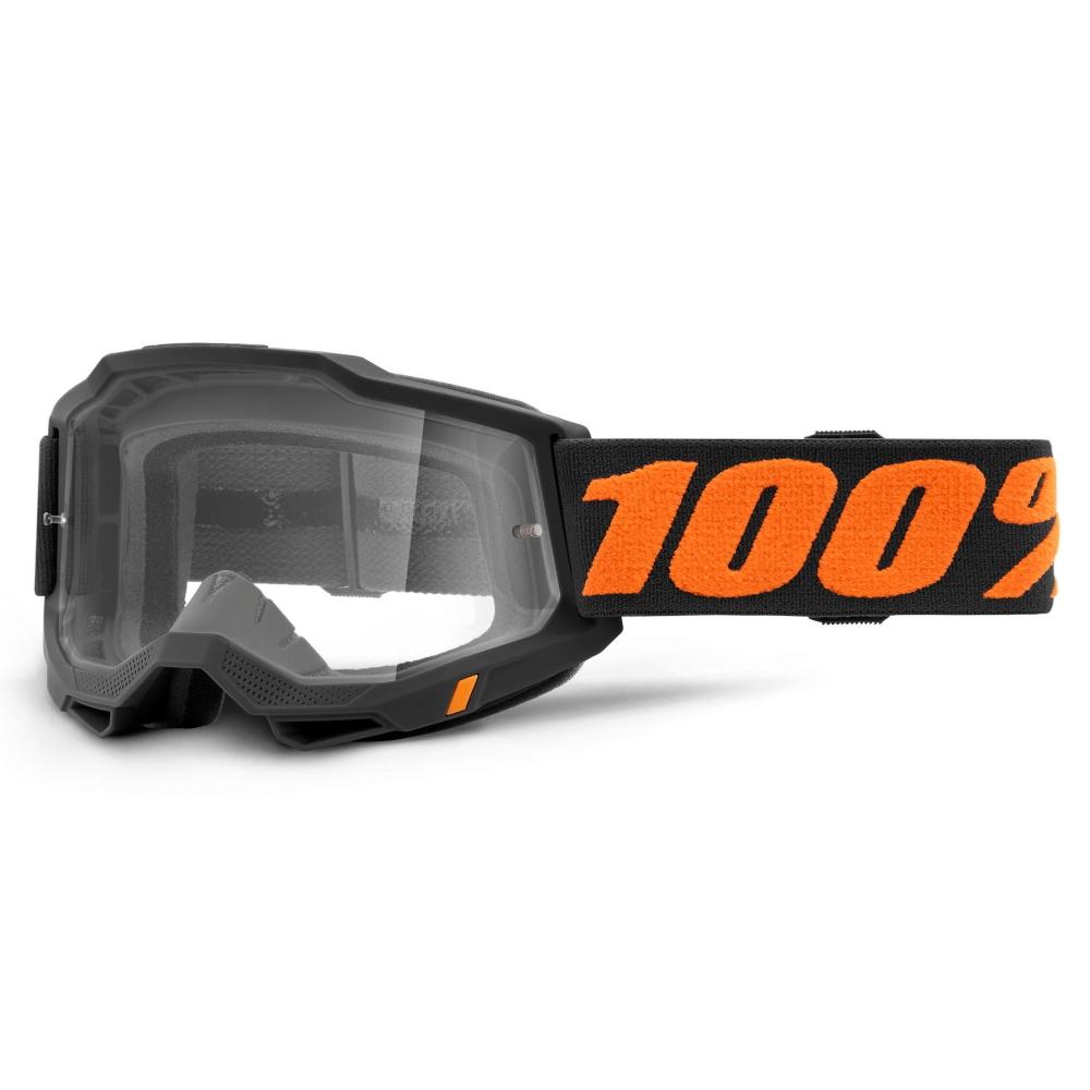 Motokrosové brýle 100% Accuri 2 Chicago černo-oranžová, čiré plexi