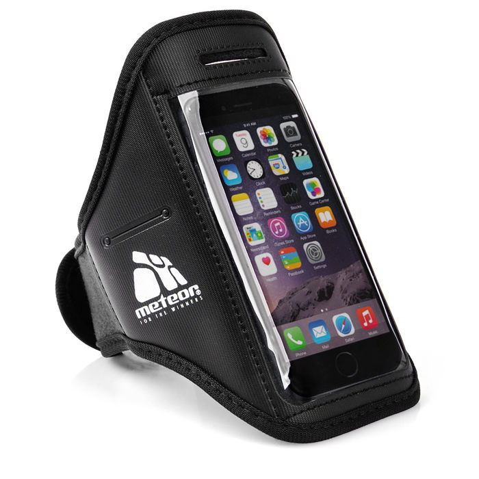 Běžecký obal na telefon s kapsičkou Meteor černá