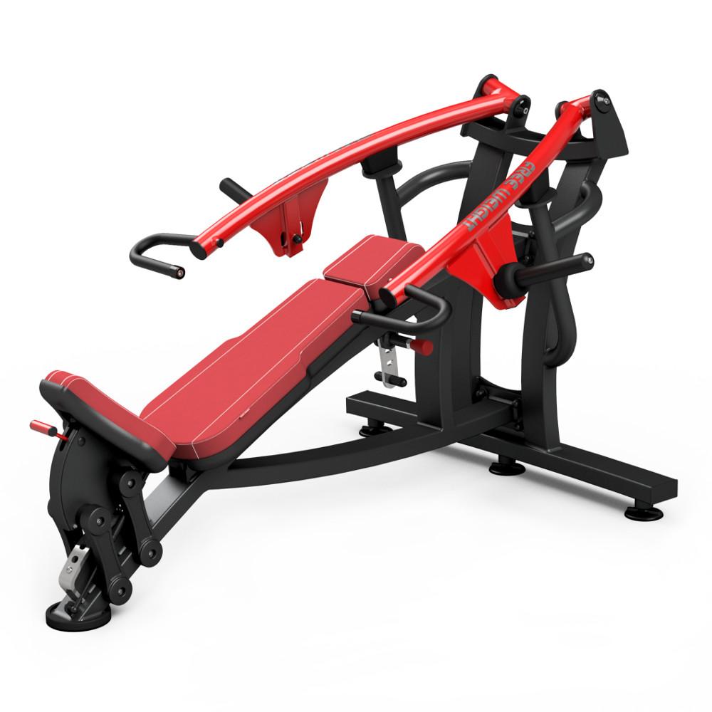 Posilovací stroj - šikmé tlaky na prsa Marbo Sport MF-U004 červená