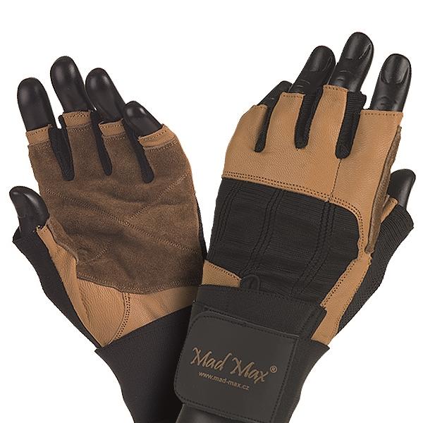 Fitness rukavice Mad Max Professional hnědo-černá - S