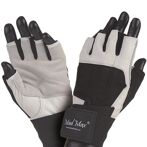 Fitness rukavice Mad Max Professional bílo-černá - XL