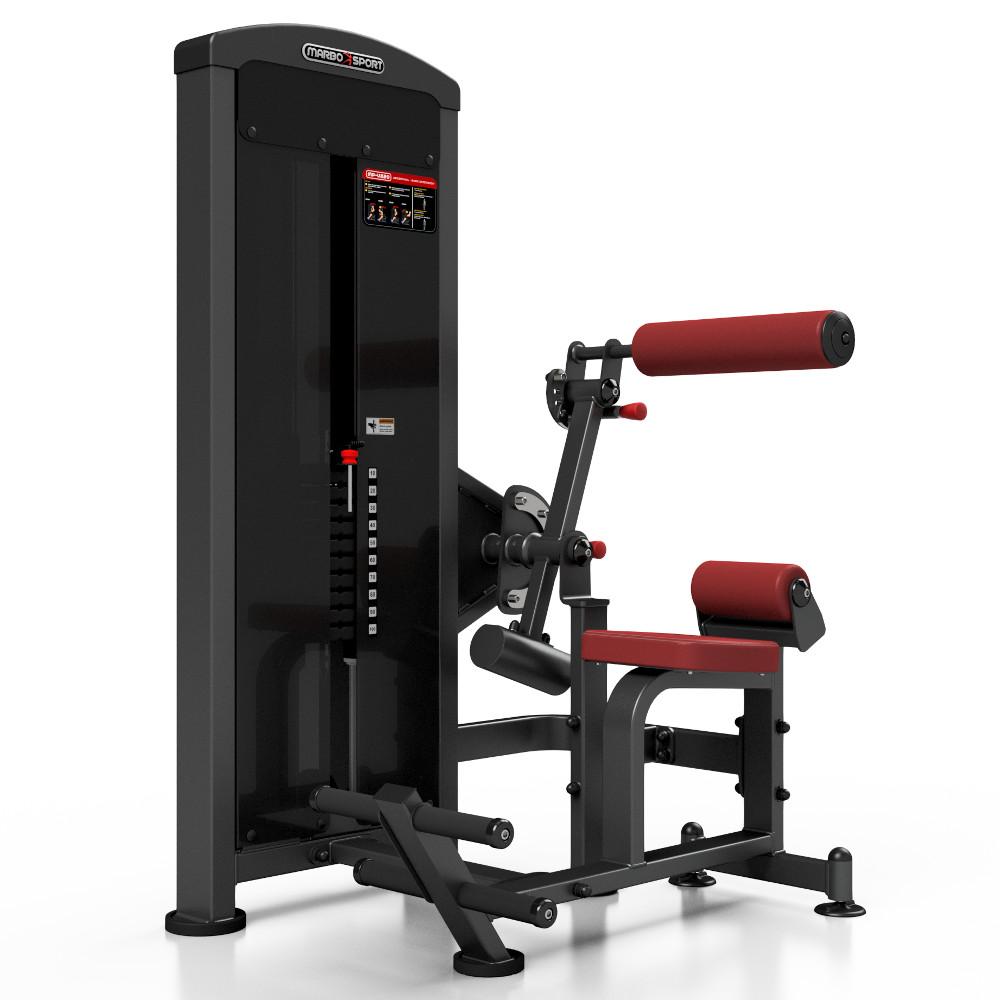 Posilovací stroj na břicho a záda Marbo Sport MP-U220 červená