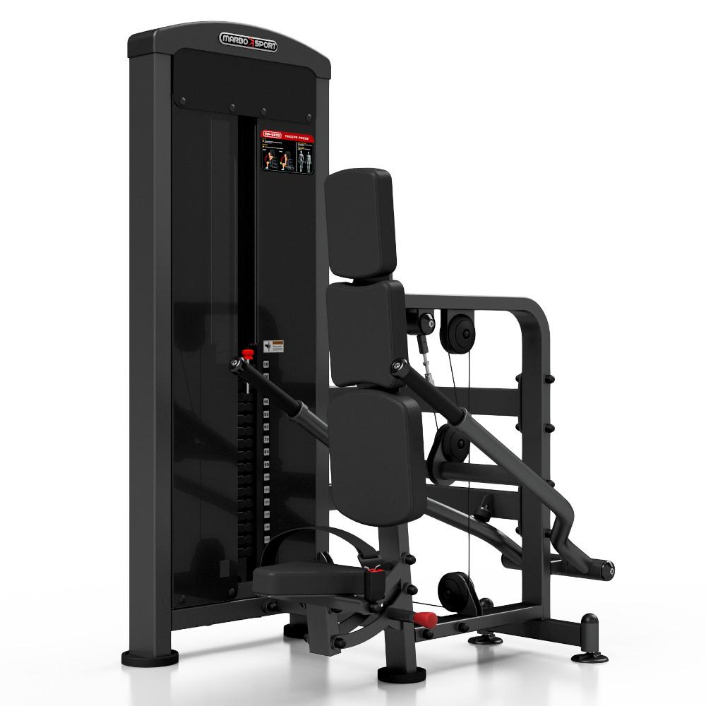 Posilovací stroj - triceps se závažím Marbo Sport MP-U233 černá