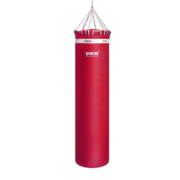 Boxovací pytel SportKO MP01 45x180 cm červená