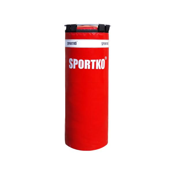 Dětský boxovací pytel SportKO MP5 29x75 cm červená