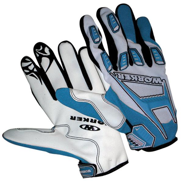 Motokrosové rukavice WORKER MT787 modrá - XL