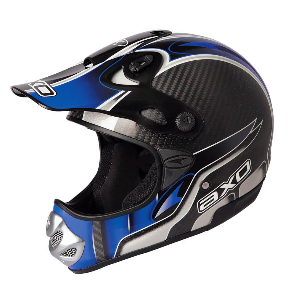 Motokrosová přilba AXO MM Carbon Evo modrá - XXL (63-64)