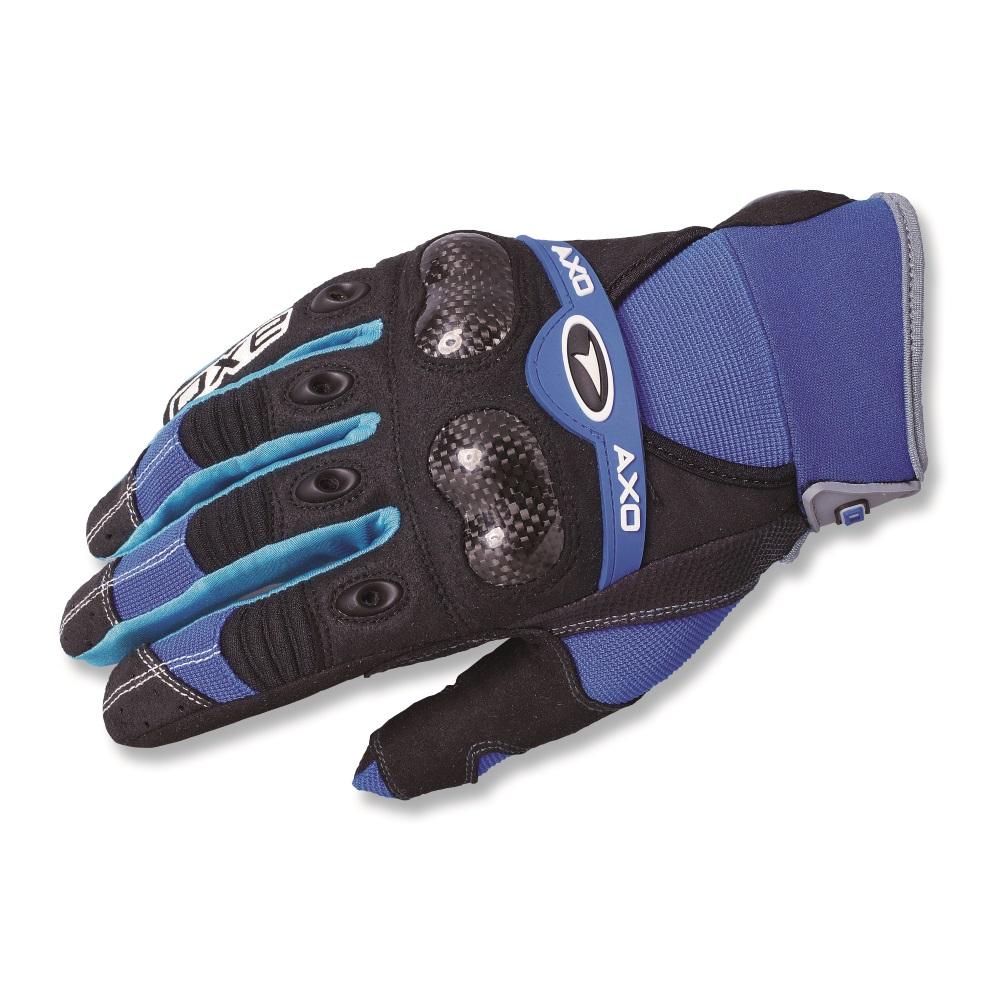 Motokrosové rukavice AXO VR-X modrá - M b15af9addb
