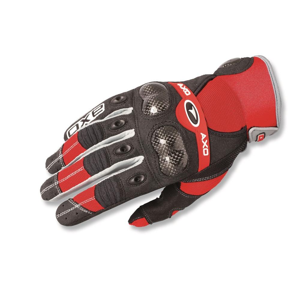 8232c49a56a Motokrosové rukavice AXO VR-X červená - M