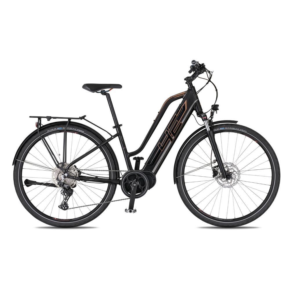 "Dámské trekingové elektrokolo 4EVER Marianne Sport Trek - model 2021 černá/bronz - 16"""