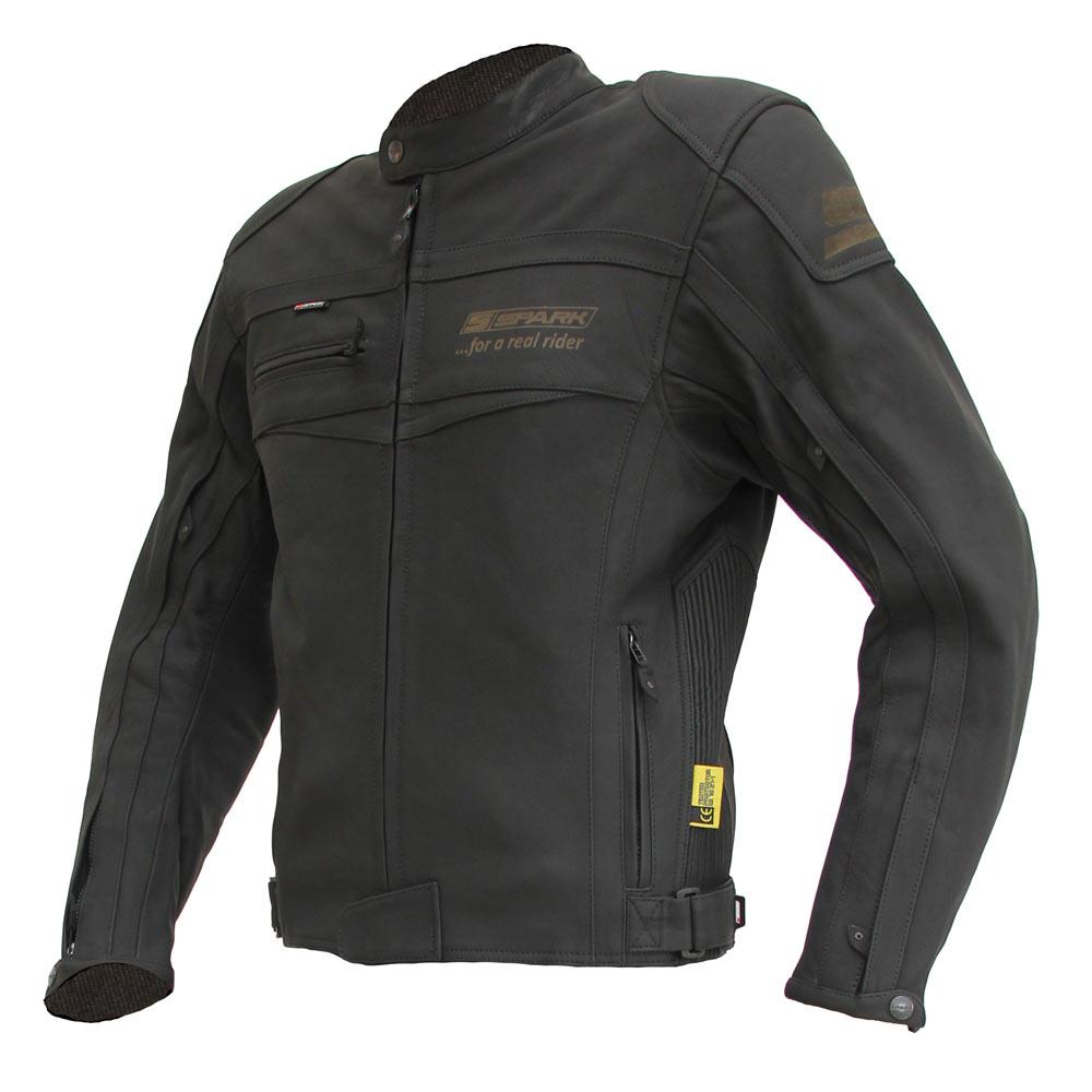Pánská moto bunda Spark Mike matně černá - S