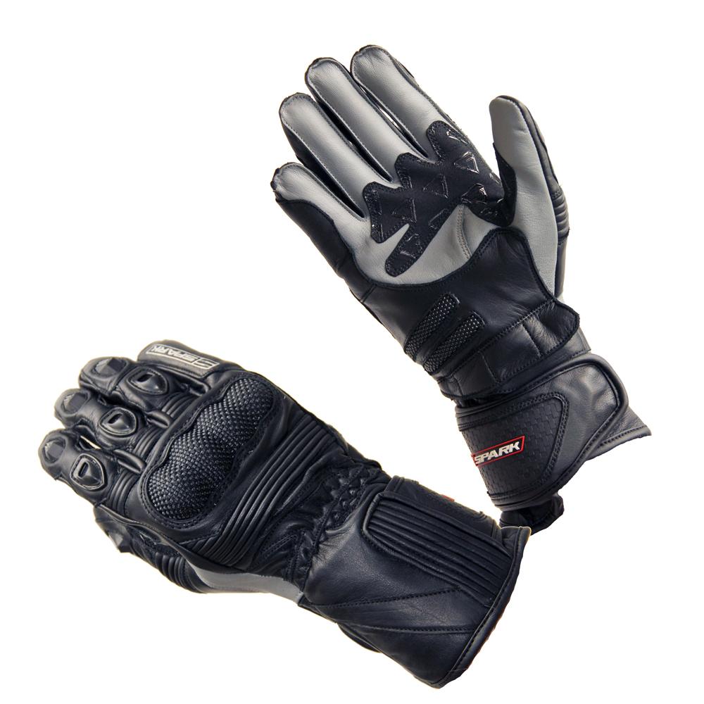 Kožené moto rukavice Spark Modena černo-šedá - 3XL 8ea9e6b24b