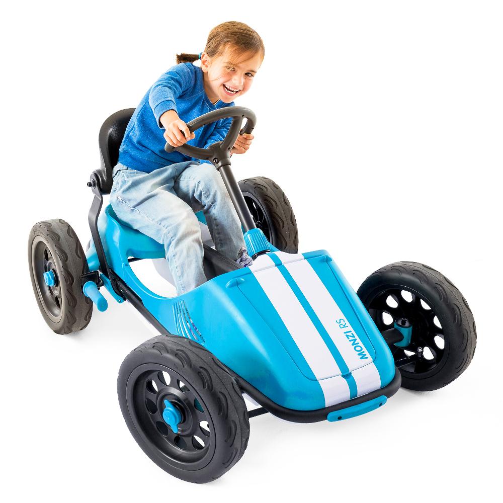 Šlapací autíčko pro děti Chillafish Monzi-RS modrá