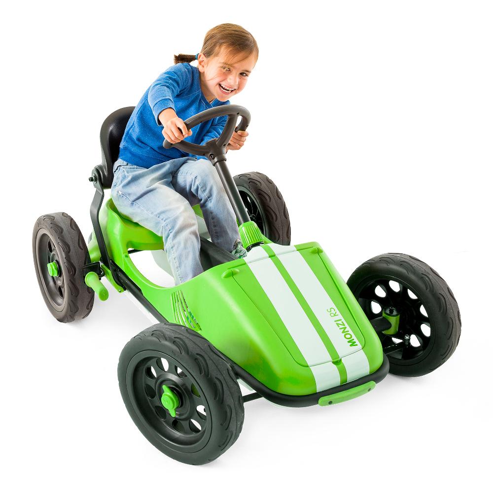 Šlapací autíčko pro děti Chillafish Monzi-RS limetková