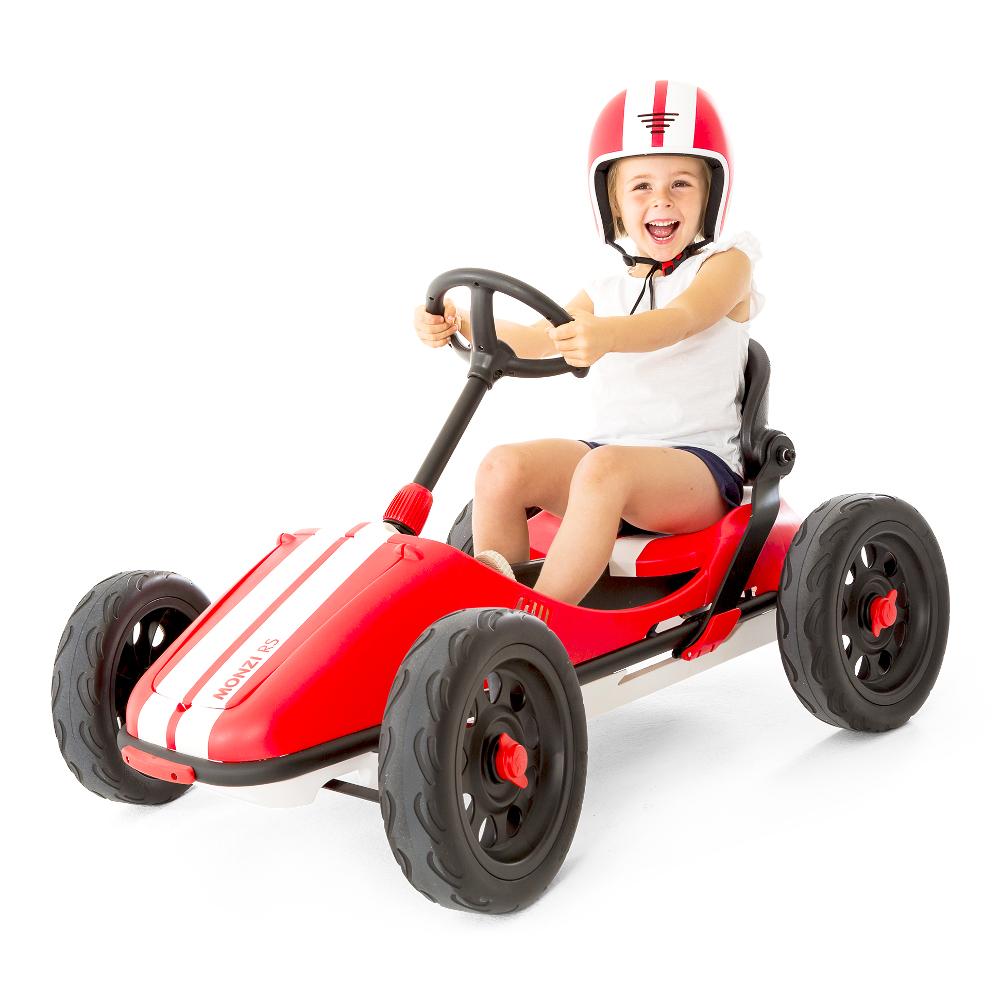 Šlapací autíčko pro děti Chillafish Monzi-RS červená