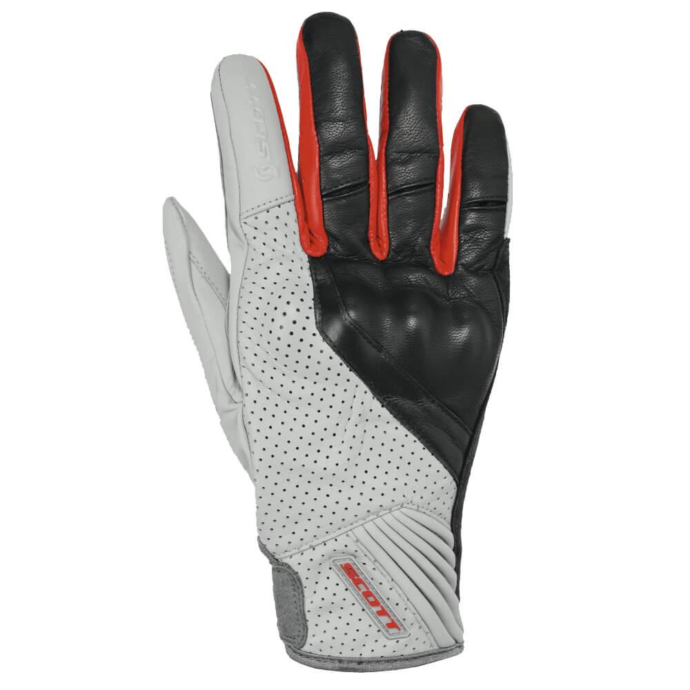 Moto rukavice Scott Lane 2 černo-červená - L