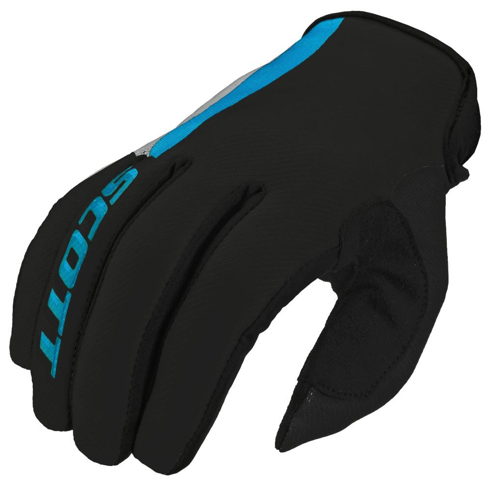Motokrosové rukavice Scott 350 Dirt MXVI šedo-modrá - L