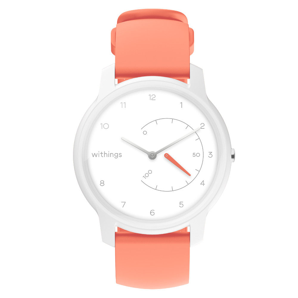 Chytré hodinky Withings Move White/Coral