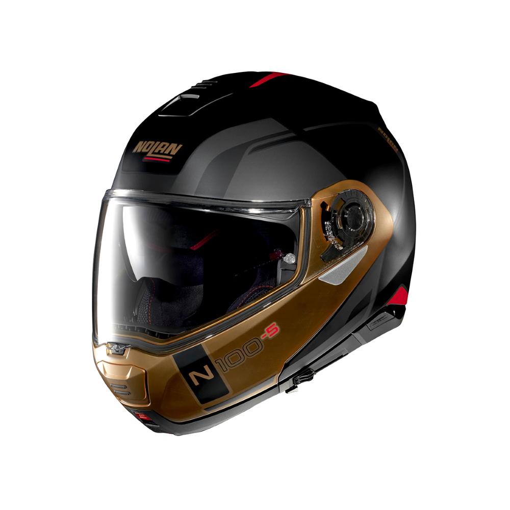 Moto helma Nolan N100-5 Consistency N-Com P/J Flat Black-Bronze - S (55-56) - Záruka 5 let