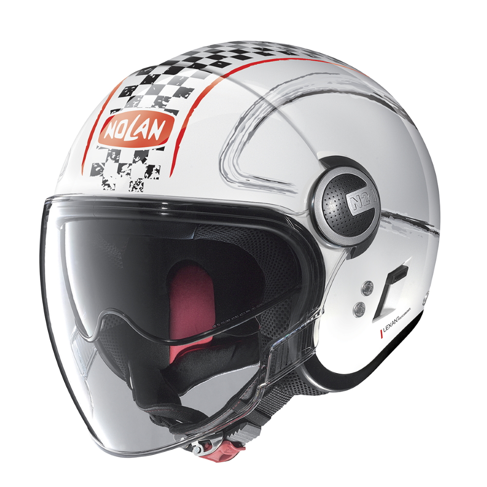 Nolan N21 Visor Getaway Metal White-Red - M (57-58)