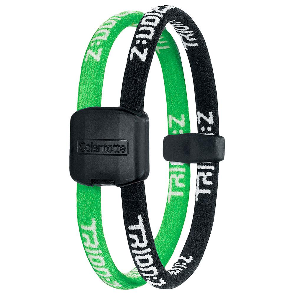 Náramek TRION:Z Dual černo-zelená - S