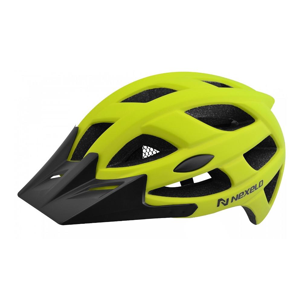 Cyklo přilba Nexelo City zeleno-černá - M (55-58)