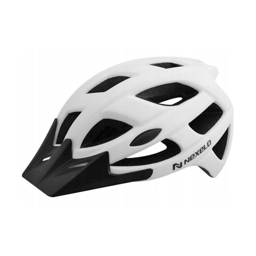 Cyklo přilba Nexelo City matná bílá - M (55-58)