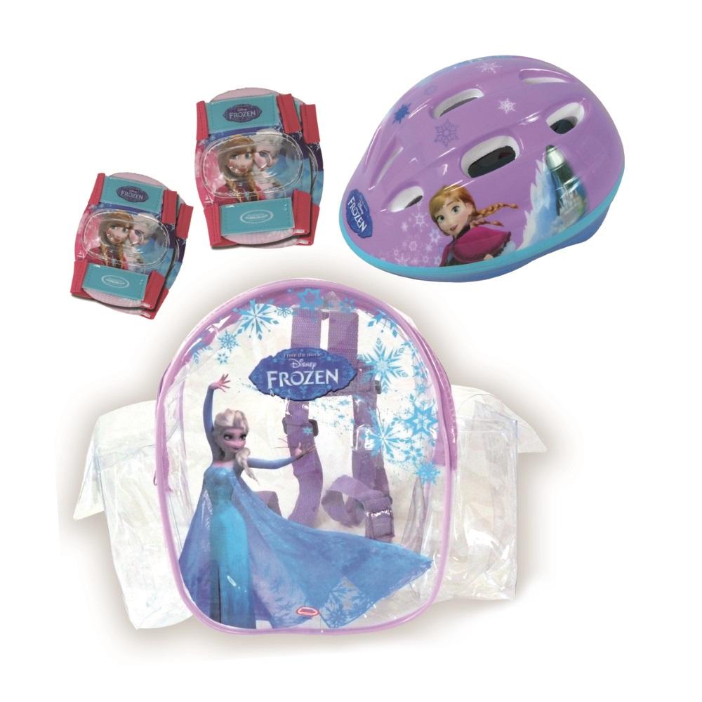 Sada chráničů a helmy Frozen s taškou