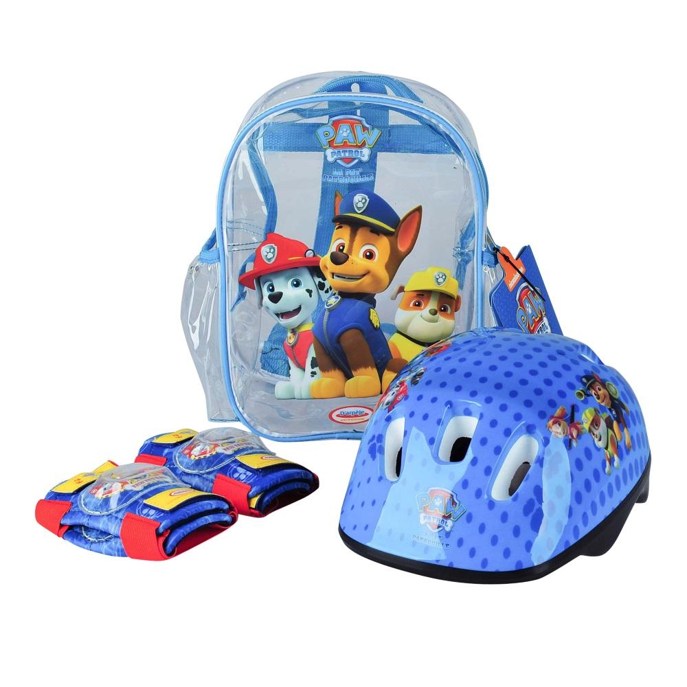 Sada chráničů a helmy Paw Patrol s taškou