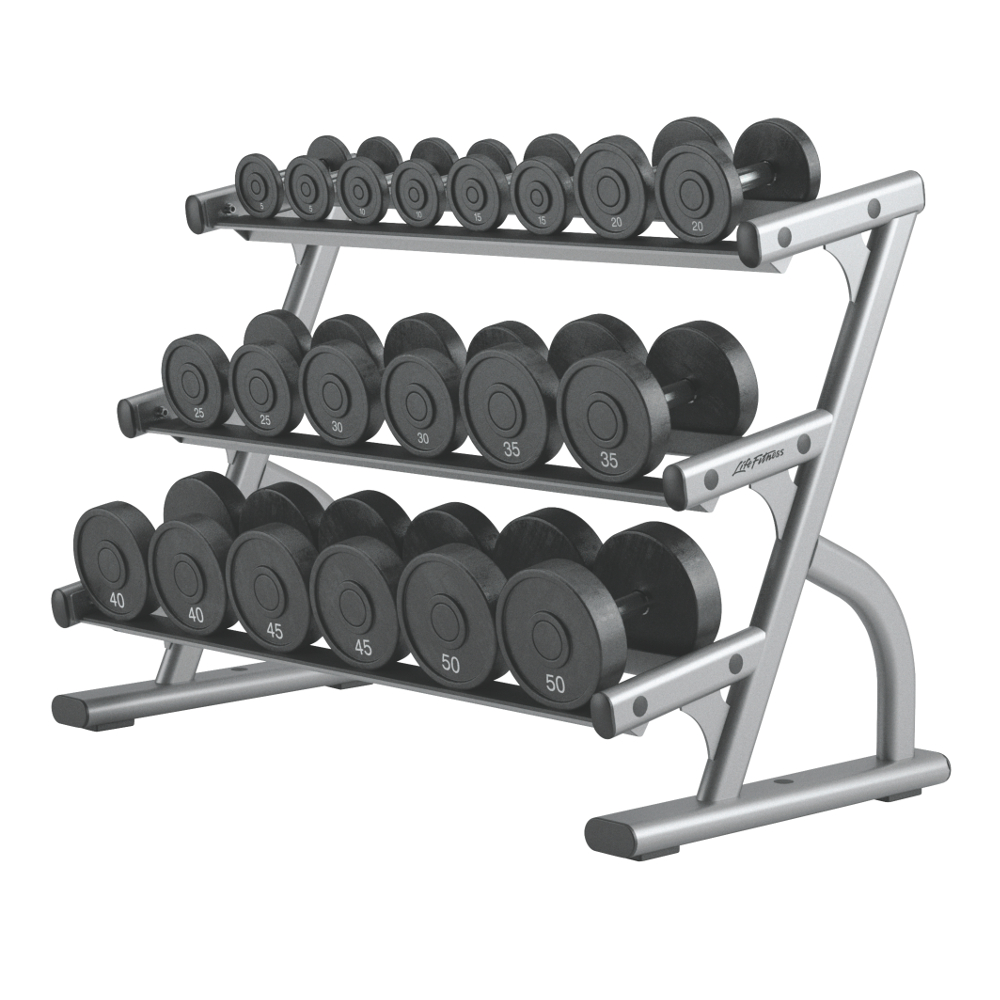 Life Fitness Optima 3Tier Dumbbell Rack