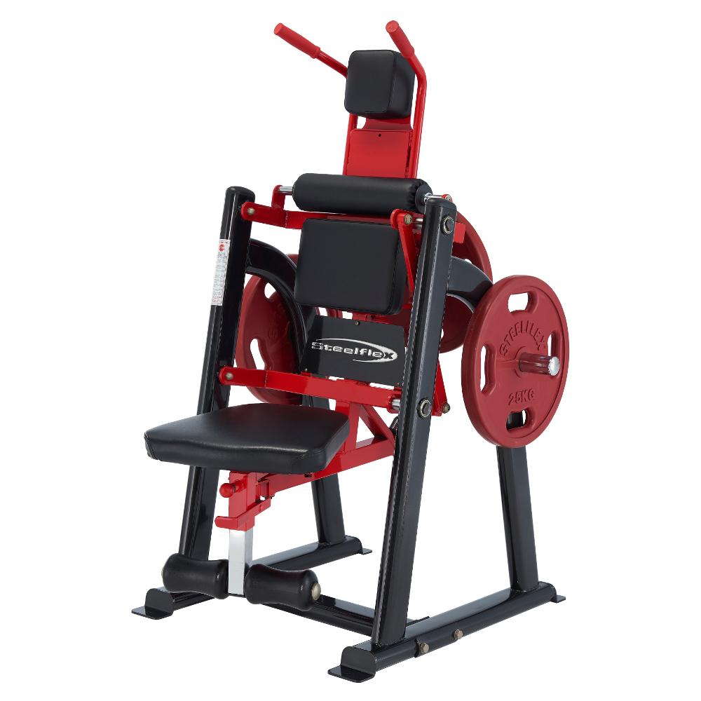 Posilovač břišních svalů Steelflex Plateload Line PLAC černo-červená - Servis u zákazníka