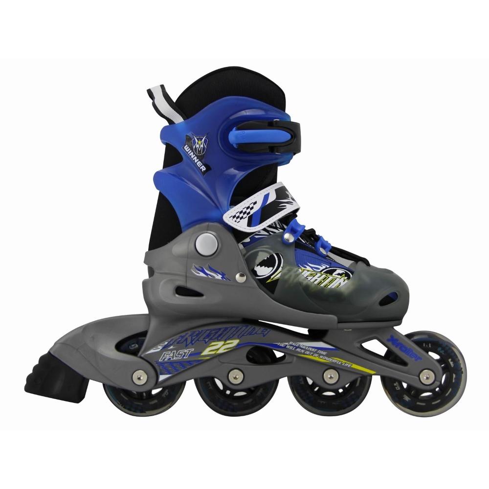 Dětské kolečkové brusle X-Roller PW-116 černo-modrá - XS (26-29)