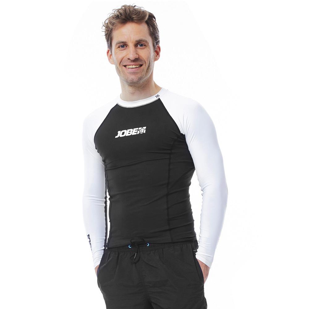Pánské tričko pro vodní sporty Jobe Rashguard s dlouhým rukávem černo-bílá - S