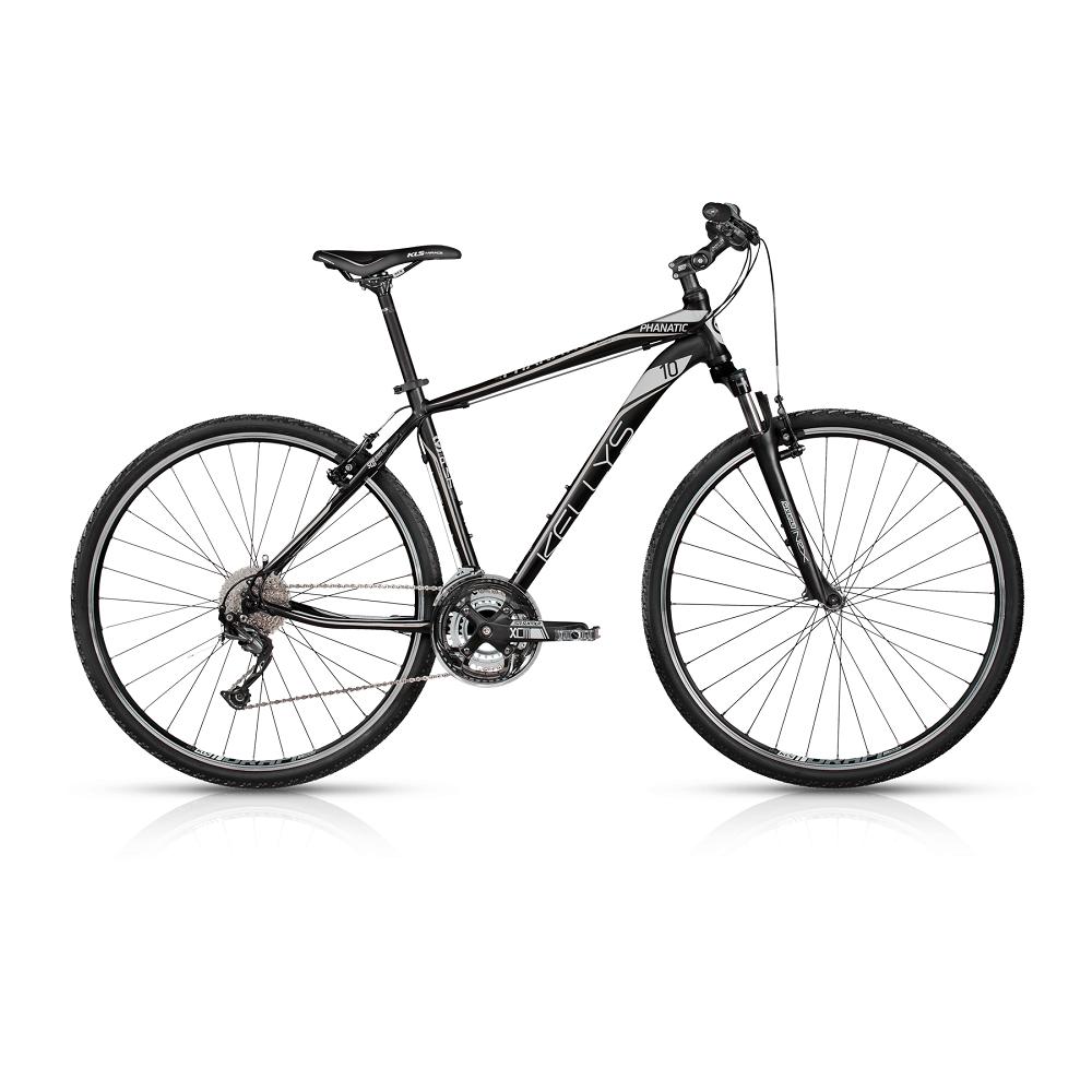 """Pánské crossové kolo KELLYS PHANATIC 10 28"""" - model 2017 Black - 430 mm (17"""") - Záruka 10 let"""