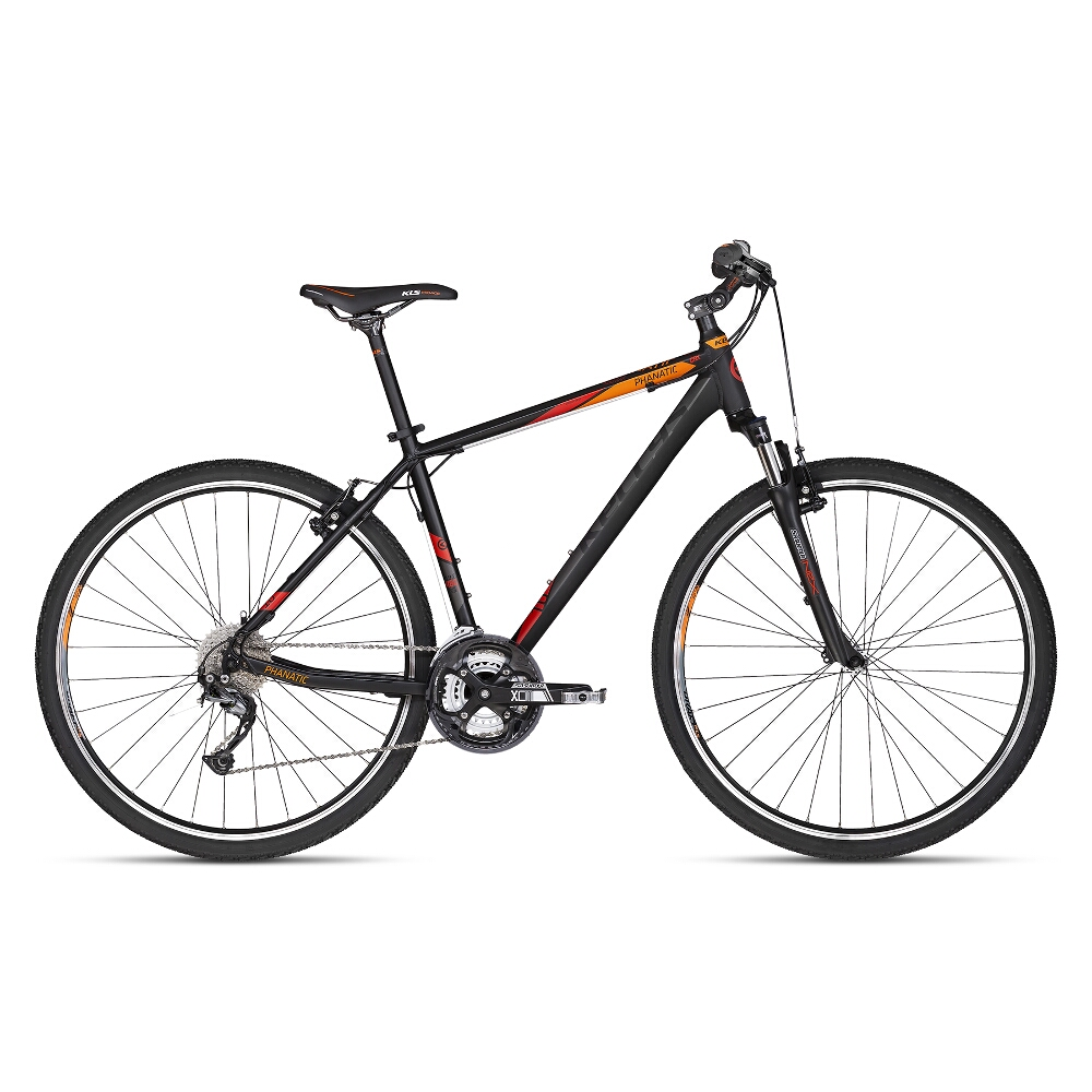 "Pánské crossové kolo KELLYS PHANATIC 10 28"" - model 2018 Dark Orange - 21"" - Záruka 10 let"