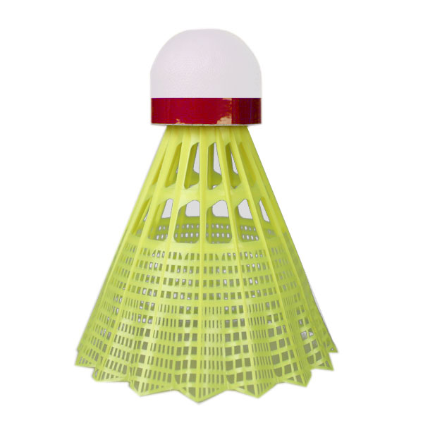 Plastové míče Yonex Mavis 350 žlutý míček - červený pruh