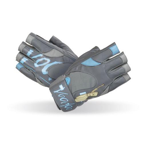 """Fitness rukavice Mad Max """"voodoo"""" šedo-modrá - M"""